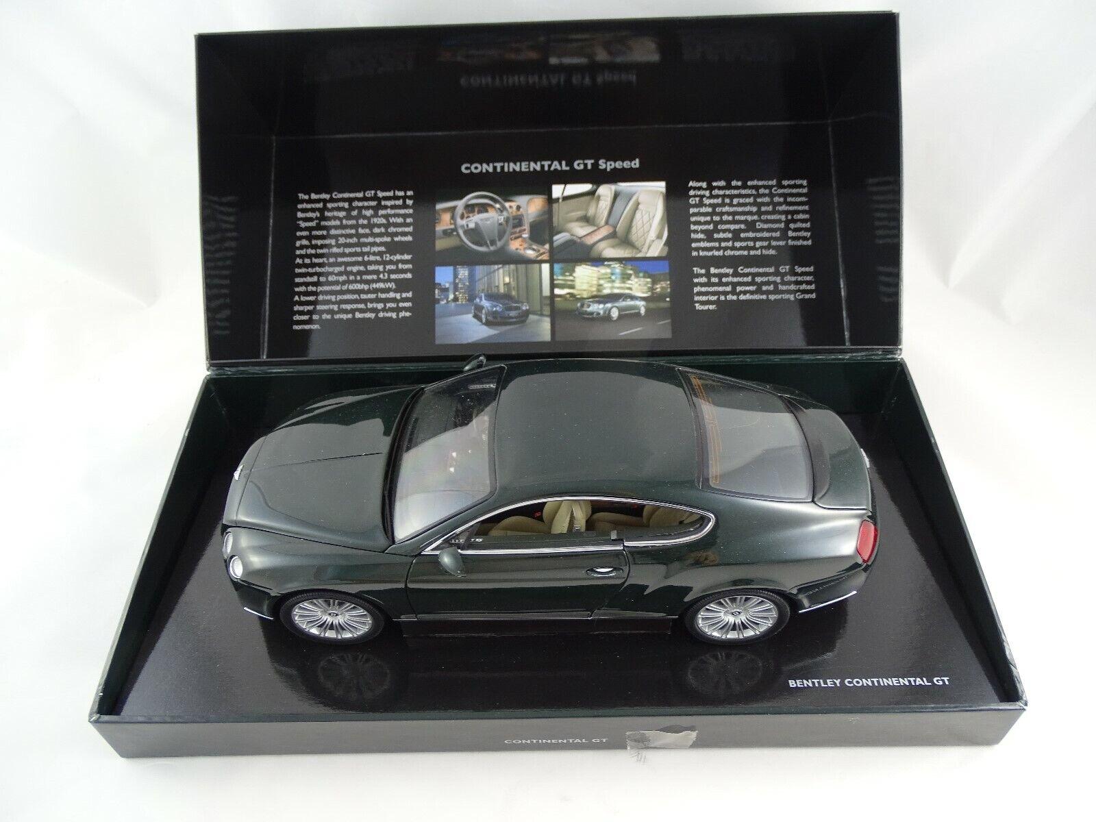 Compra calidad 100% autentica 1 18 Minichamps Dealer Edición 2008 Bentley Bentley Bentley Continental Gt Speed Nuevo    Felices compras