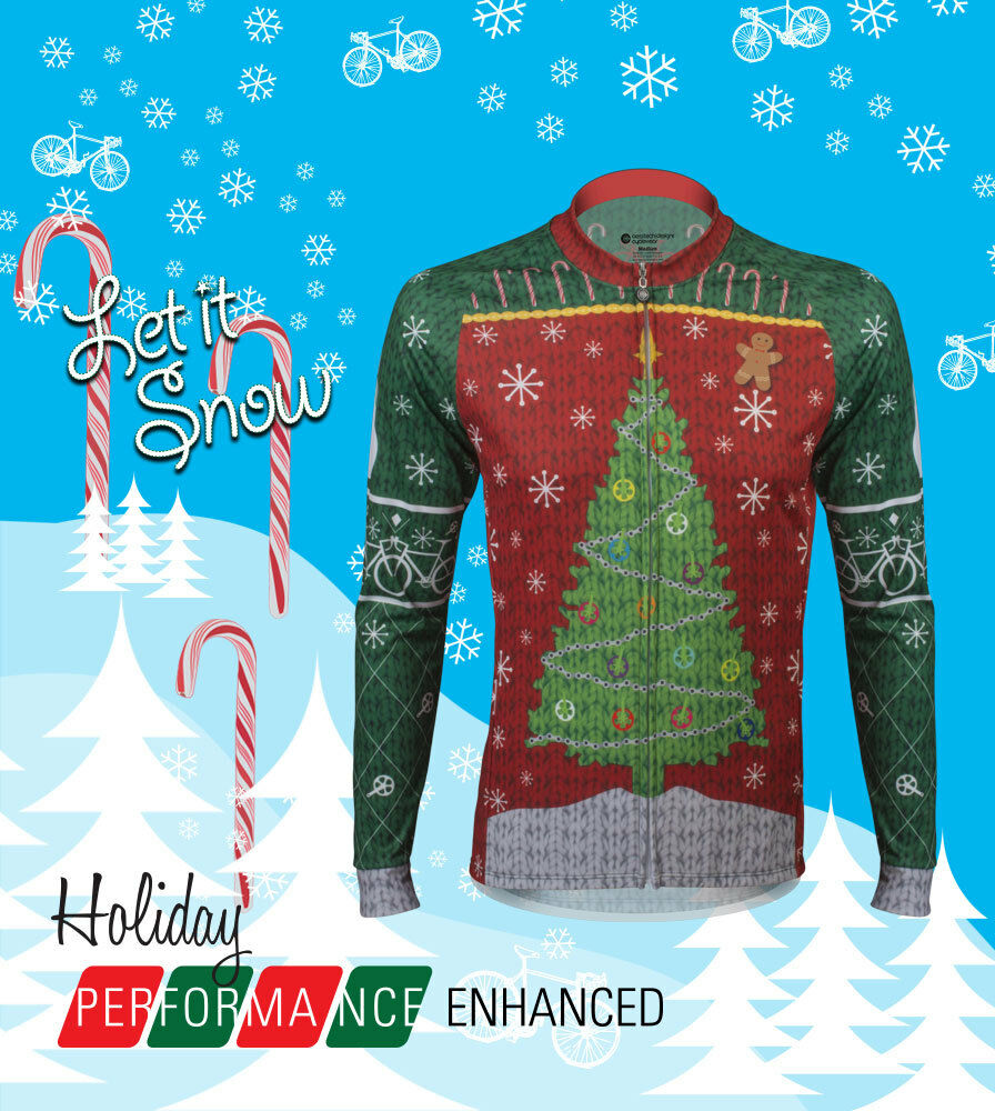 Aero Tech Designs Ugly Ugly Designs Christmas Sweater Cycling Jersey Bike Jersey USA Made 556c42