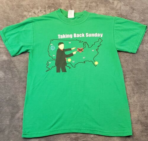 Vintage Taking Back Sunday Shirt Mens Small Green