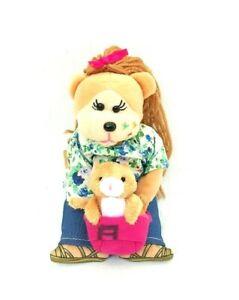 Beanie-Kid-Korimco-Ruby-The-Pet-Day-Bear-Ginger-Kitten-Soft-Plush-Toy