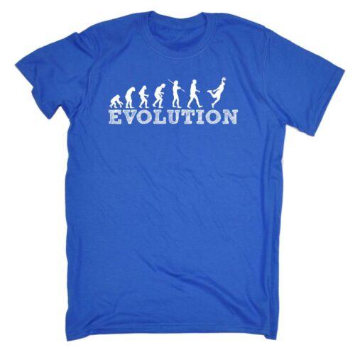 EVOLUZIONE UOMO BASKET BARZELLETTA Divertente Sport Sport T-shirt