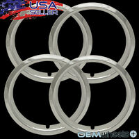 4x 15 Chrome Trim Rings 1.5 1 1/2 Deep Beauty Glamour Steel Wheels Rims Abs
