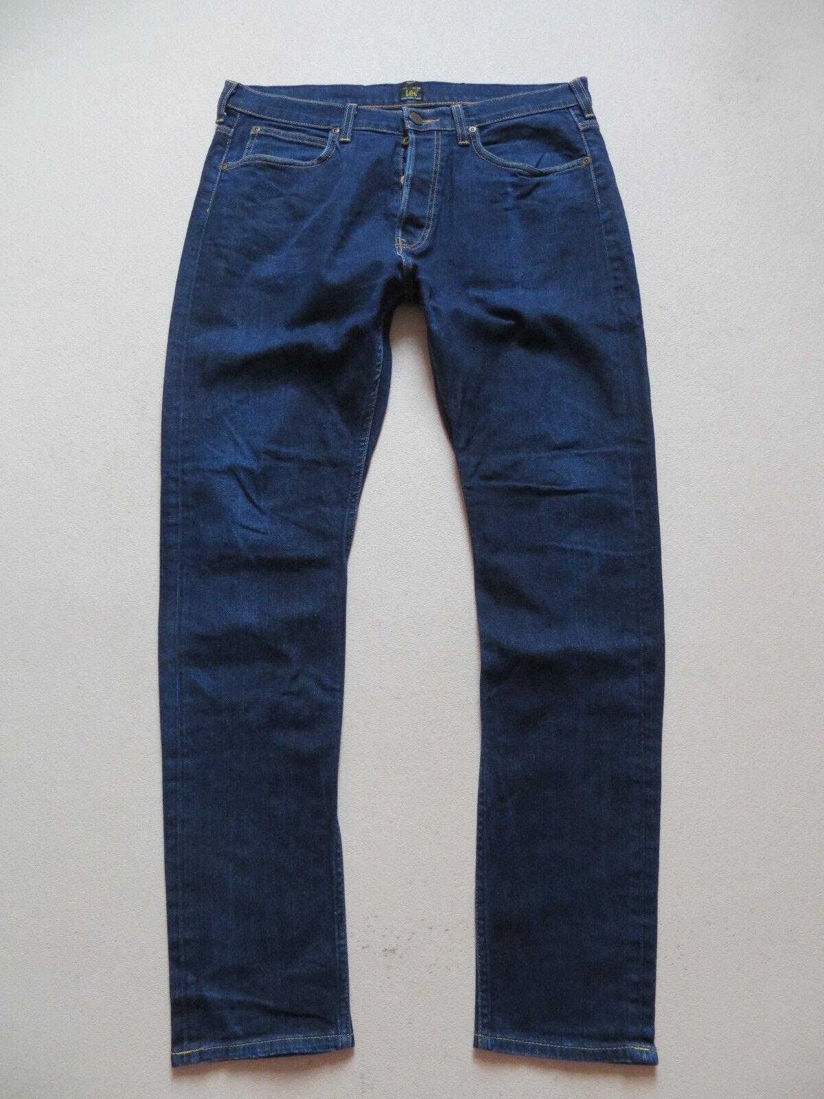 Lee HEATH slim Fit taperot Jeans Hose, W 34  L 34, Dark Indigo Stretch Denim  | Sonderangebot  | Zarte  | Hohe Qualität und Wirtschaftlichkeit