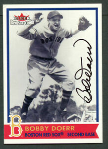 Bobby Doerr #43 signed autograph auto 2001 Fleer Red Sox 100th Baseball Card