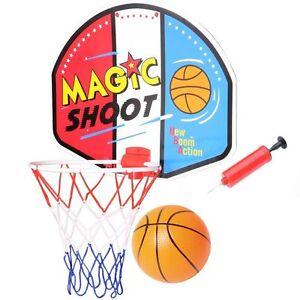 Magic-Shoot-Indoor-Or-Outdoor-Basketball-Backboard-Ball-amp-Net-Adaptor-Pump