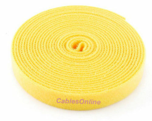 CT-515YL Wrap Hook /& Loop Cable Tie 15 ft.//Roll Yellow