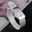 Fashion-925-Silver-Plated-Charm-Bangle-Cuff-Bracelet-Men-Women-Jewelry-Wristband thumbnail 7