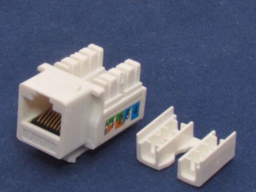 10 X Pcs lot Keystone Jack CAT6 Network Ethernet 110 Style Punch Down 8P8C RJ45