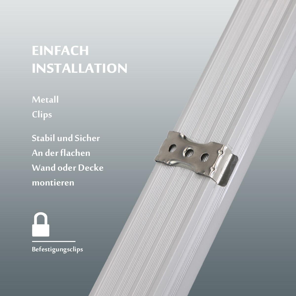 LED Leuchtstoffröhre 120cm 150cm komplett Set mit Fassung T8 Röhre ...