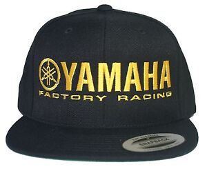 Image is loading YAMAHA-FACTORY-RACING-hat-cap-flat-bill-snapback- c329c102827