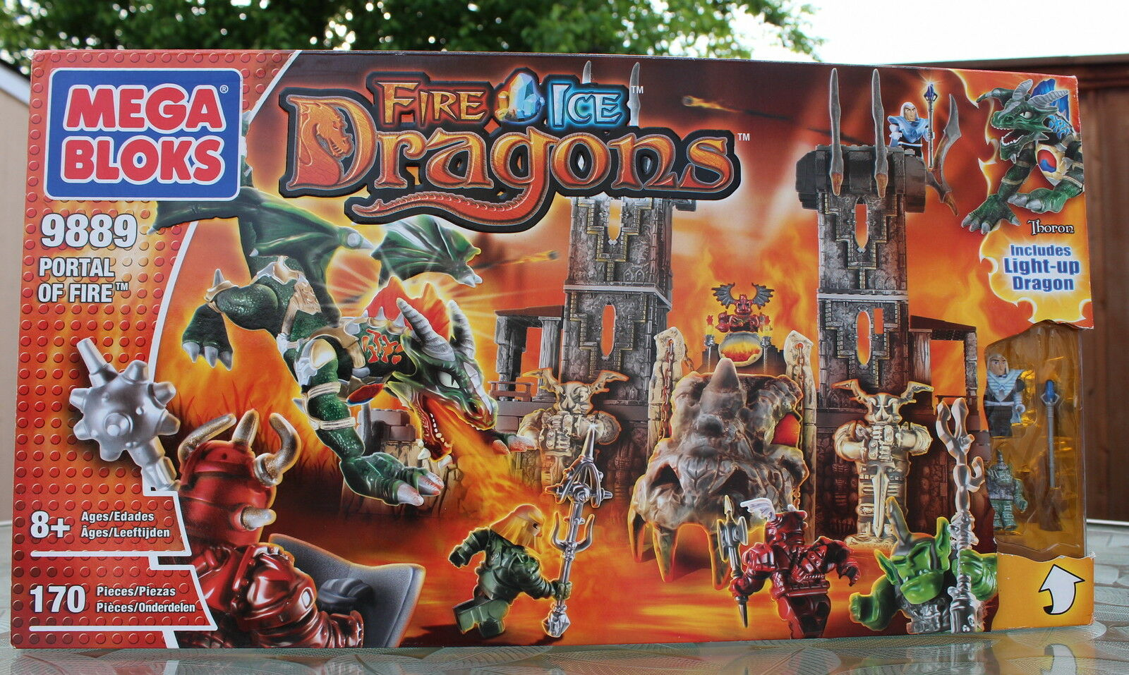 Mega Bloks 9889 FIRE & ICE DRAGONS Portail De Feu Playset Awards gagnant TV NBC