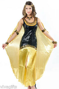 Image is loading Girls-Ladies-Black-Queen-Cleopatra-Costume-Great-for-  sc 1 st  eBay & Girls/Ladies Black Queen Cleopatra Costume - Great for Storybook ...