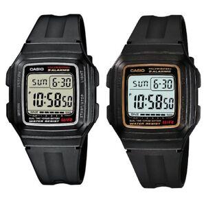 Casio-F-201WA-Series-Silver-or-Gold-Dual-Time-Illuminator-Unisex-Digital-Watch