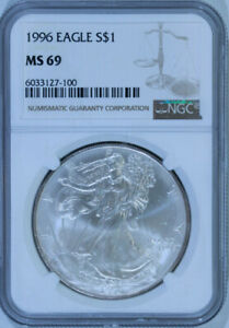 1996-American-Eagle-Silver-Dollar-1-Oz-NGC-MS69-Mint-State-69-x