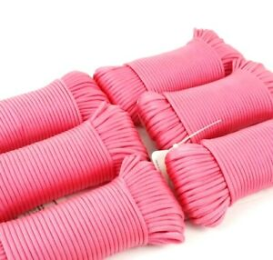 600 Feet Total Six Piece 100 foot each Case Pack PINK 550 Paracord Cord 7 Strand