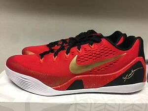 1dfcf303f59 NIKE KOBE IX CH CHINA PACK UNIVERSITY RED GOLD-BLACK SIZE MEN S 11 ...