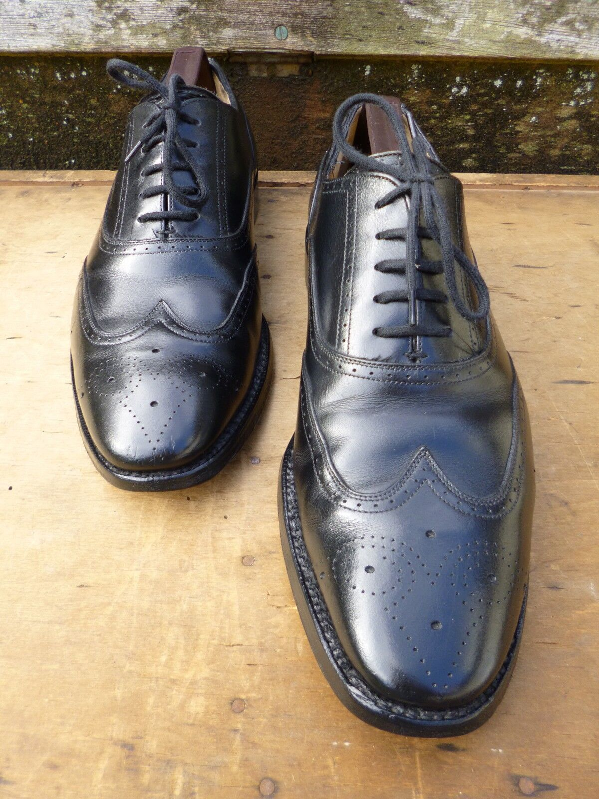 CHURCH BROGUES – BLACK BLACK BLACK – UK 7 – WALTON - VERY GOOD CONDITION 0fcecf