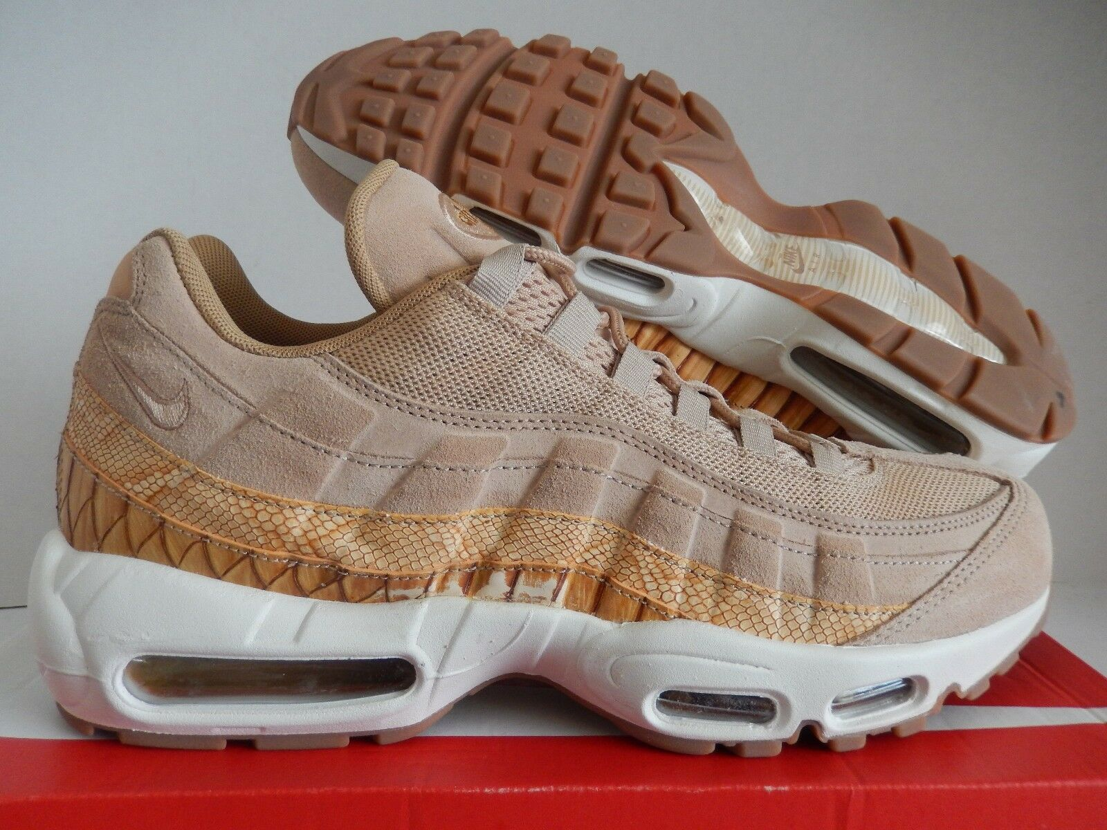 NIKE AIR MAX 95 PREMIUM SE VACHETTA TAN Marron SZ 11 [924478-201]