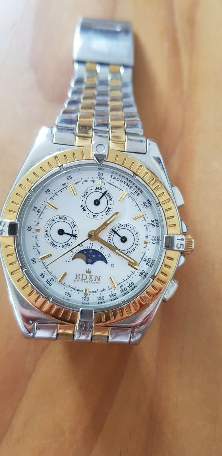 Eden Chronograph Stainless Steel Band