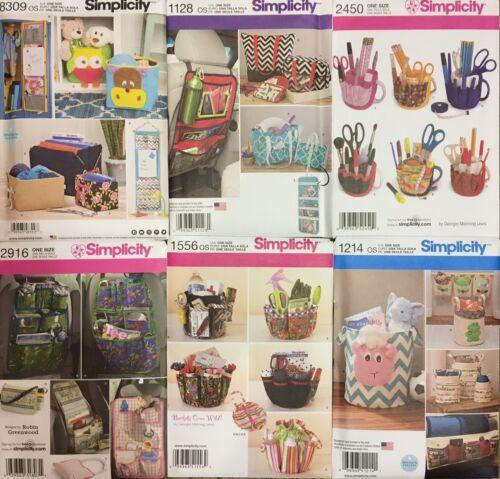 Patrones de costura simplicidad Artesanía//almacenamiento Incl Primavera 19