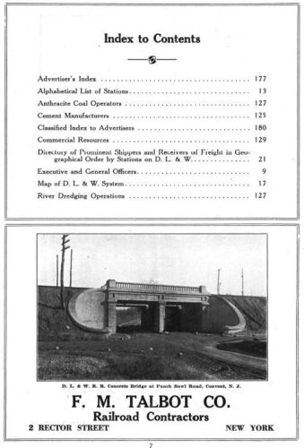Lackawanna Railroad Official Shippers Directory 1926