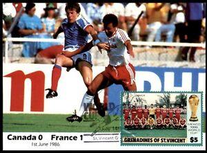 Masterfile Mexico 86 Postcard - (1 June 1986) Canada vs France