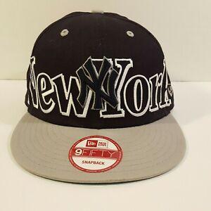 New Era 9Fifty New York NY Yankees Snapback Baseball Hat Cap Black Grey
