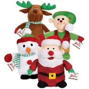 Christmas-Santa-Snowman-Reindeer-Elf-friends-singer-voice-chip-dog-toy-toys-B4