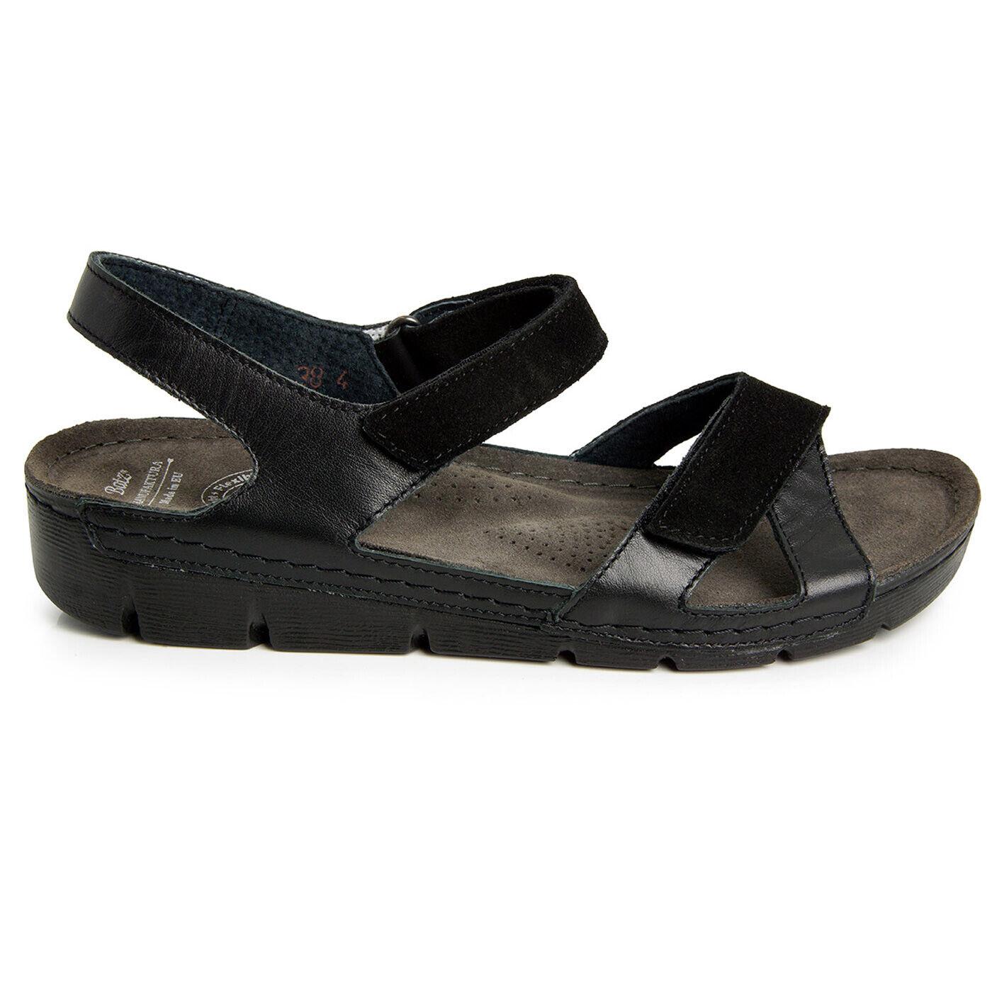 BATZ TOLEDO NERO leggero e e e flessibile Sandali in pelle fatto a mano zoccoli ciabatte donna ec7861