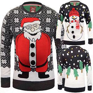 Natale uomo Maglione natalizio MAGLIA BABBO GADGET 3D S M ...