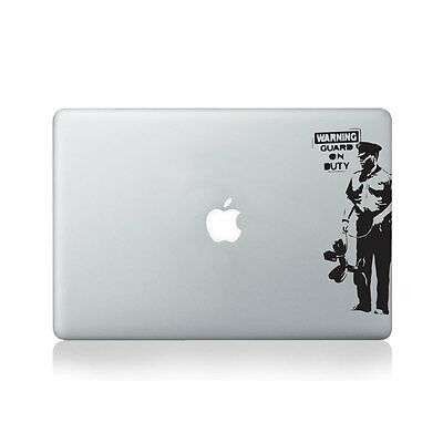 Banksy Guard On Duty Vinyl Decal for Macbook (13/15), Laptop or Guitar / Macb...