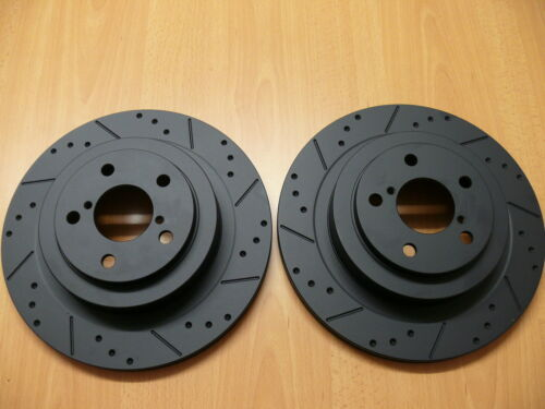 Rear Black Edition Brake Discs Compatible With Impreza WRX 2000-2007 2.0 2.5