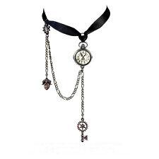 Alchemy Gothic Uncle Albert Steampunk Clock Key Choker Pendant Necklace P729