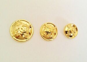 6 CLASSIC GOLD METAL LOOK  MILITARY STYLE BLAZER COAT BUTTONS  20mm