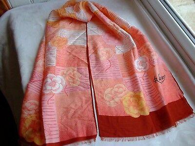 "Orange Cat Faces Wrapables Vibrant 100/% Silk Long Scarf 51/"" x 10.5/"""