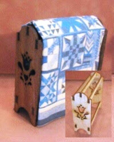 Dollhouse Miniature Quilt Rack Kit in Walnut 1:12 Scale