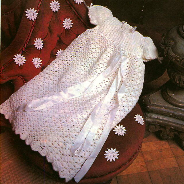 Vintage Crochet Pattern How To Make A Cute Baby Long Dress