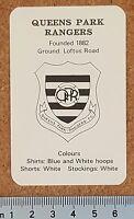 BERTCORD Big League Single Football Card QPR Queens Park Rangers - VARIOUS