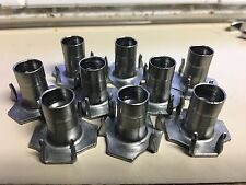 "4 Prong T Nut 5/16""-18 x 5/8"" (Tee Nut) Qty: 250  Hardened commercial grade"