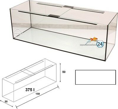 Aquarium 150x50x50cm mit Sicherheitsunterlage