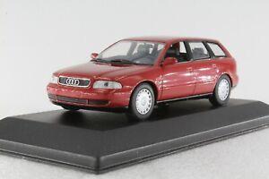 A-s-s-Minichamps-PMA-1-43-AUDI-a4-Avant-Red-Metallic-1995-ORIGINALE-PC-Box
