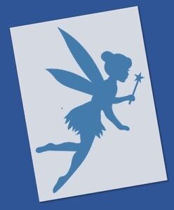 reusable mylar tinkerbell stencil template for crafting canvas decor