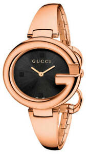 72512d98c7b Gucci Guccissima Black Dial 36MM G Shaped SS Quartz Women s Watch ...