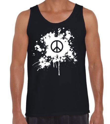 Cnd paix symbole grunge homme débardeur tank top-festival anti war t-shirt