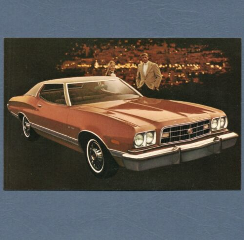 1973 Ford GRAN TORINO 2-Door HARDTOP Dealer NOS Promo Postcard UNUSED VG+//Ex ^