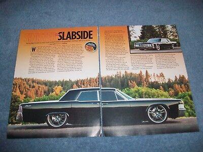 """1965 Lincoln Continental Hardtop Restomod Artikel """" Sinister Slabside Zoll"""
