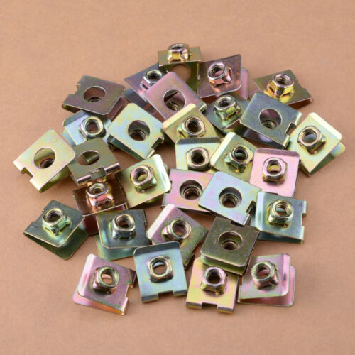 30Pcs 6mm Thread Hole U-Type Clips Retainers Rivets Fastener for Car Tool
