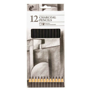 Chiltern Wove Charcoal Colouring Pencils 12PK