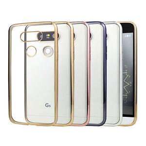 Funda-flex-color-para-LG-G5-H850-ultra-delgada-borde-cromado