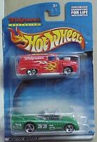 Hot Wheels Walgreens Twin Pack Red Ford Panel & Green Custom Twin Racer